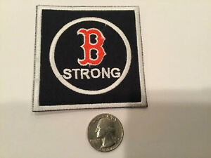 """BOSTON STRONG BOSTON RED SOX  Embroidered Iron On Patch 3"""""""