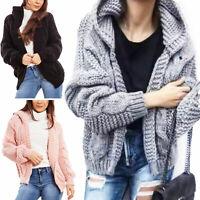 Cardigan donna maglione cappuccio maglia tricot inverno pull TOOCOOL JL-60721