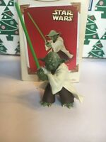 Christmas Hallmark Keepsake Jedi Master Yoda Star Wars Attack Clone Ornament NIB