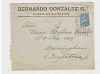 colombia 1915 stamps cover ref 12883
