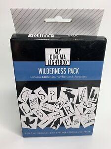 My cinema lightbox extra letters Numbers Bear Moose Trees Arrow Axe Wildlife NEW