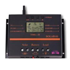 60A LCD Solar Battery Regulator Charge Discharge Controller 12V 24V WithUSB WT