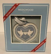 Wedgwood First 1st Christmas Together 2017 Ornament Blue Heart Marriage Gift