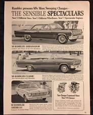 Original 1965 RAMBLER Car Ad ~ Vintage Advertisement AMERICAN Classic AMBASSADOR