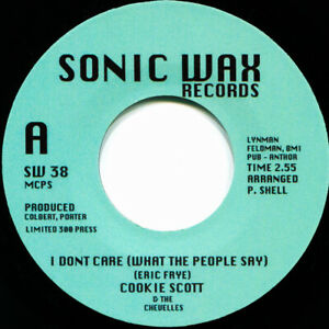 COOKIE SCOTT & CHEVELLES I DONT CARE (WHAT THE PEOPLE SAY) Soul Northern Motown