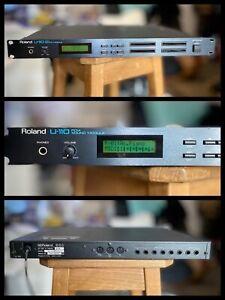 🎹 Roland U-110 Rack 1U Module Synthétiseur 1988 4x ROM Expansion Vintage 🎹