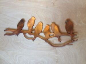 Birds on a Branch Rustic Copper Patina Finish Metal Wall Art Hanging
