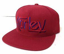 new style 713ec f4b66 New 28 HURLEY SNAPBACK HAT Dark Red Blue Flat-Bill Wool Blend Men Women
