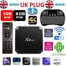 X 96 Mini S905W Quad Core Android Smart TV Box 4K HDMI réseau Stream Clavier
