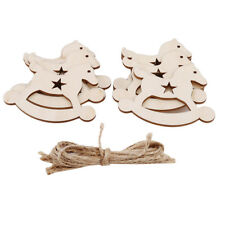 DIY Christmas Horse Wooden Pendants Ornaments Xmas Craft Decoration LD