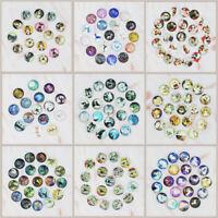 50PCS Round Glass Dome Cabochons Flatback Cameo DIY Jewelry 10/12/16/20/25/30MM