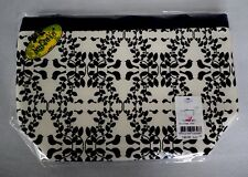 NaRaYa Cosmetic Bag Make up with Strap Black & White Birds Florals New Sealed