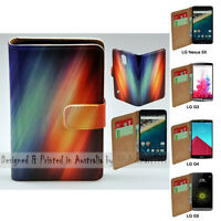For LG Series - Multi Colour Abstract Theme Print Wallet Mobile Phone Case Cover