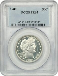 1909 50c PCGS PR 65 - Low Mintage Issue - Barber Half Dollar - Low Mintage Issue