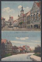 44986) AK Pforzheim Marktplatz Rathaus Simmlerstraße ca. 1910
