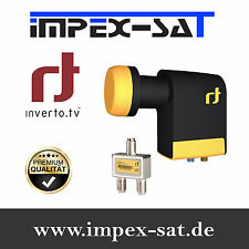 Inverto Black Unicable Quad 40mm LNB 2 Legacy Ports + 1 Splitter