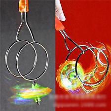 Flashing Light Up Gyro Wheel Magnetic Kinetic Wheel Kids Child Toy Gift Boy Girl
