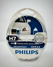 2x Philips H7 WhiteVision Headlight Bulb 12972WHVSM