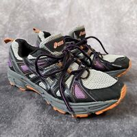 Asics Gel Trail Tambora 4 Trainers Purple Orange Grey US Size 9 UK 7 Running