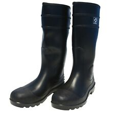 NEW Diamond Rubber Steel Toe Boots, Black PVC, 15-In Mens Knee Boot Agriculture