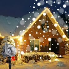 Falling Snow Christmas Light Projector Snowing LED Indoor Outdoor Projection
