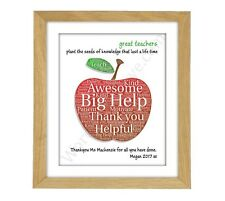 Thankyou Teacher Gift - Personalised, End of Term, Christmas Present Child