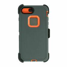 For iPhone 6s/7/8 Universal Defender Case w/Screen&Clip fit Otterbox Gray Orange