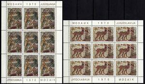 2481 Yugoslavia 1970 Mosaic art, Mini sheet (6), MNH