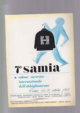 pubblicità anni 50 cinquanta SAMIA salone abbigliamento bespoke italian torino