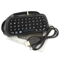 Contrôleur Chatpad clavier sans fil Bluetooth pour Playstation ps4 Manette Black