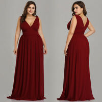 Ever-Pretty Plus Size Burgundy Chiffon Bridesmaid Dresses Long Party Dress 09016