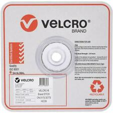 VELCRO Stick on General Purpose Only Hook Dots Hold 500g White 22mm 900 Dots