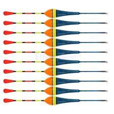 10x Holz Posen Set Angelzubehör zum Angeln Karpfen Forellen Aal - 2.5g Blau