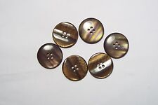 8pc 23mm Brown Faux Shell Effect Cardigan Kids Baby Button Bead 2959
