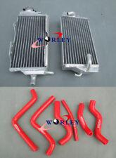 Aluminum Radiator + RED HOSE For Honda CR125 CR125R CR 125 R 2 stroke 2000 2001
