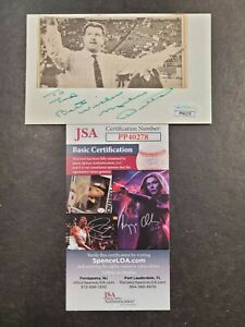 Mike Ditka Signed 3x5 index card JSA Certified Auto! NFL Coach Personalized