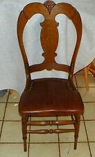 Quartersawn Oak Carved Dinette Chair / Sidechair / Desk Chair (Sc260)