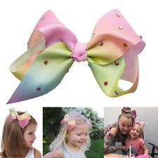 10cm Hair Bow rainbow Bows Dance Moms Girls Accessories Kids Clip Fashion