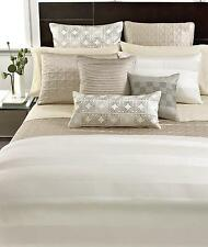 New Hotel Collection Woven Cord Queen Duvet Cover Ivory
