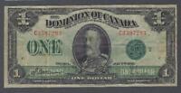 1923 (DC-25j) Dominion of Canada One Dollar F-15
