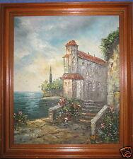 tableau huile sur toile, Dantello, très plaisante demeure en bord de mer
