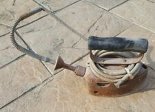 Vintage Natural Gas Line Iron Cage And Cord Or Rope Heavy Old Rusty Restore NN
