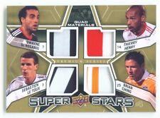"DE ROSARIO HENRY LE TOUX CHING ""SUPER STARS QUAD PATCH /10"" UD MLS SOCCER 2012"