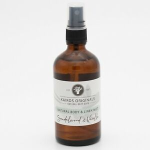 Sandalwood Essential oil & Vanilla Linen Mist - Natural linen/room spray -Kairos