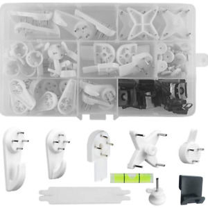 54pcs Non-Trace Picture Hook for Hard Wall Hanging Kit for Picture Frame Fixing