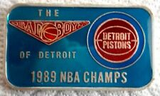 1989 Troy Oz .999 Silver ENAMEL Art Bar THE MINT SPORTS Detroit Pistons NBA #40