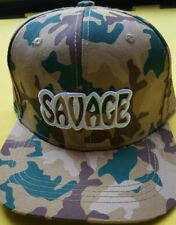 Giant Army Camouflage Men's SAVAGE adjustable Snapback Hat Cap NWT