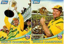 2000 Topps ACB Gold Cricket Trading Cards Promo Set (2)--Rare!