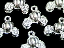 10 x 13mm Tibetan Silver 3D Princess Pumpkin Carriages Fairytale Cinderella  Y20