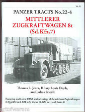 PANZER TRACTS # 22-4 – Mittlerer Zugkraftwagen 8t (Sd.Kfz7) Jentz & Doyle new SB